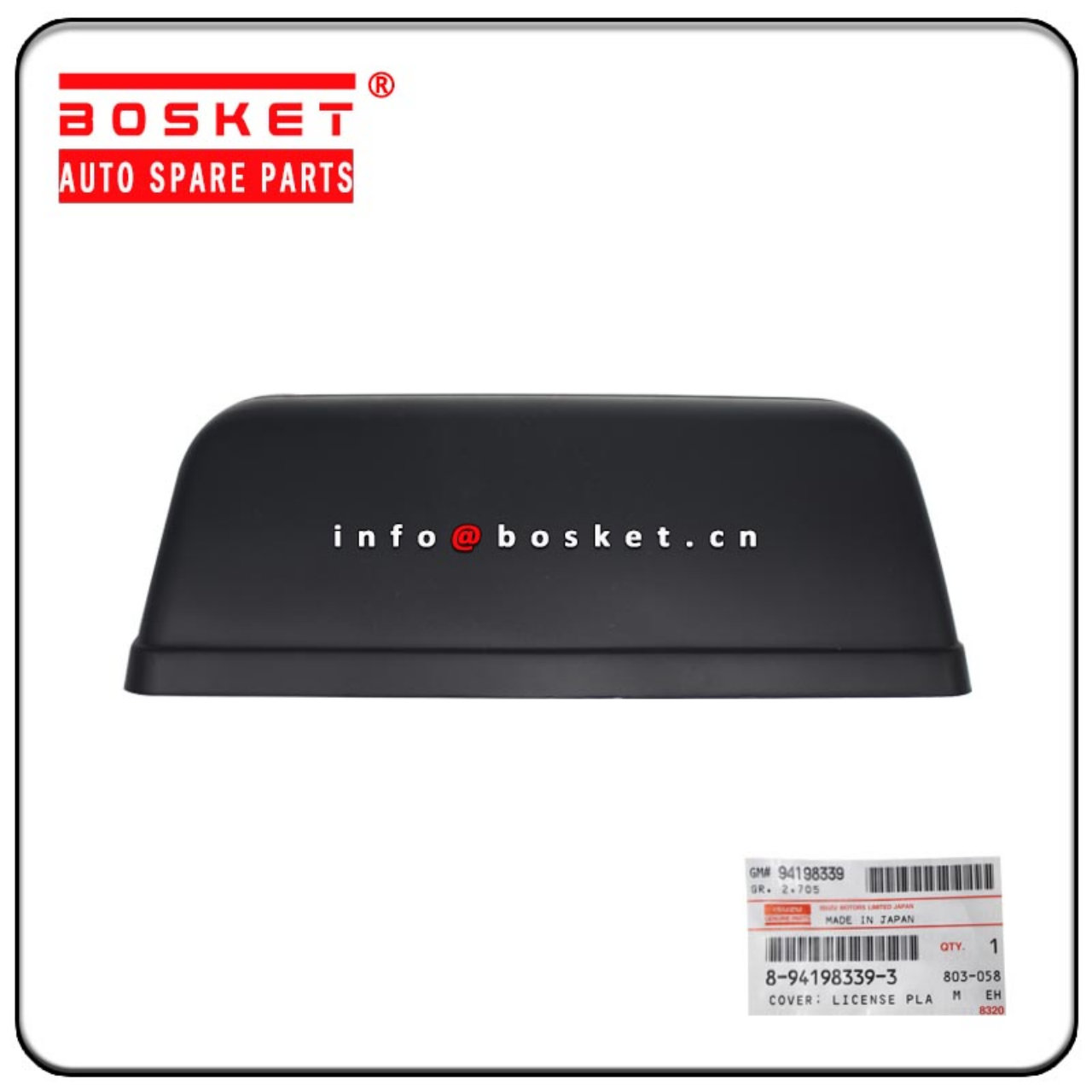 8941983393 8-94198339-3 License Plate Lamp Cover Suitable for ISUZU