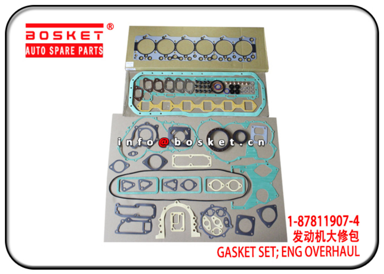 1-87811907-4 1878119074 Engine Overhaul Gasket Set Suitable for ISUZU 6BD1T XE