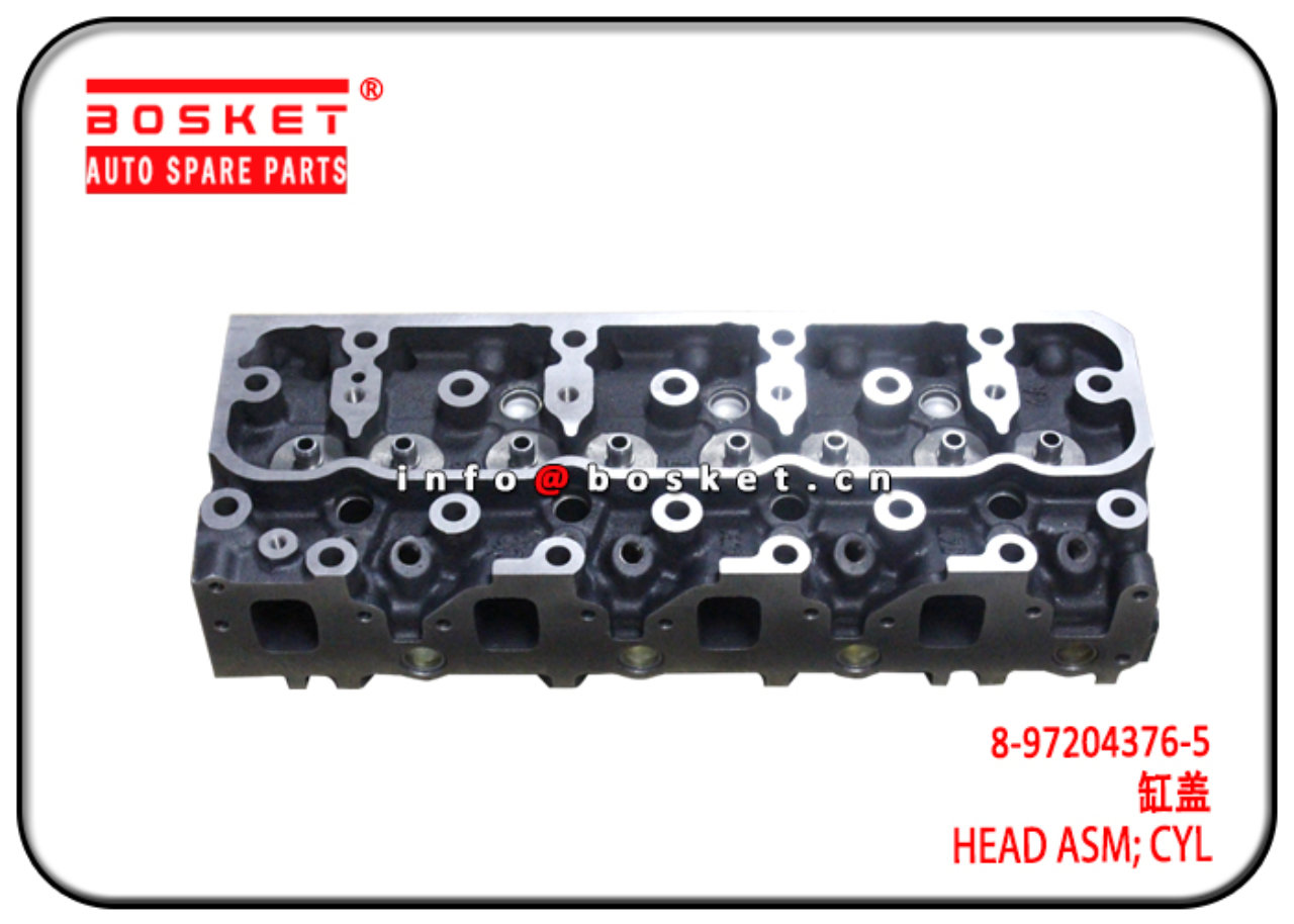 8-97204376-5 8972043765 Cylinder Head Assembly Sui...