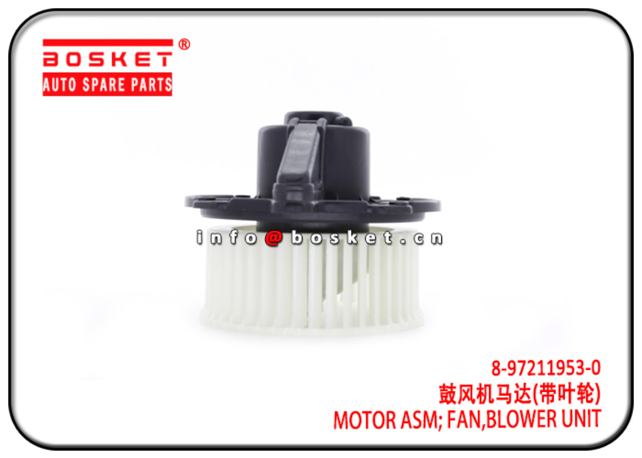 8-97211953-0 8972119530 Blower Unit Fan Motor Asse...
