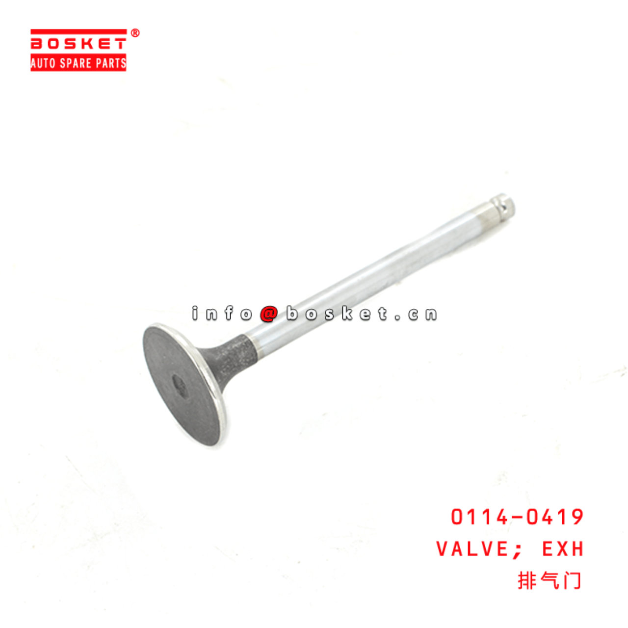 0114-0419 Exhaust Valve Suitable for ISUZU 6BD1
