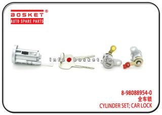 8-98088954-0 8-98201216-1 8980889540 8982012161 Car Lock Cylinder Set Suitable for ISUZU 4HK1 FRR NM