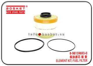 8-98159693-0 8981596930 Fuel Filter Element Kit Suitable for ISUZU 4KH1 NKR77