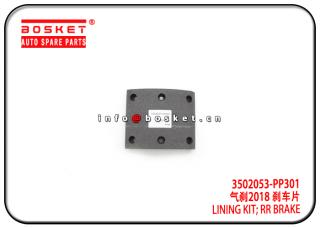 3502053-PP301 3502053PP301 Rear Brake Lining Kit Suitable for ISUZU 700P